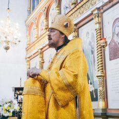 Преосвященный Алексий совершил Литургию в Неделю Всех святых