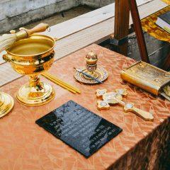 Преосвященный Алексий совершил закладку храма в Воронцовке