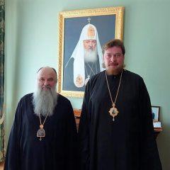 Митрополит Санкт-Петербургский и Ладожский Варсонофий провел встречу с епископом Алексием