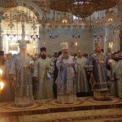 Митрополит Кирилл, епископ Георгий и епископ Алексий совершили всенощное бдение в Ново-Тихвинском монастыре