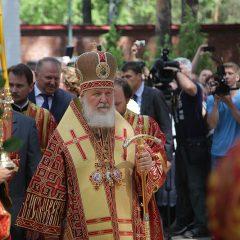 Предстоятель Русской Церкви освятил храм в честь Феодоровской иконы Божией Матери в Алапаевске