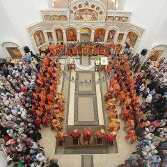 Сонм архиереев совершил Божественную литургию в месте мученического подвига святой Елисаветы Феодоровны в Алапаевске
