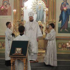 Преосвященный Алексий совершил Всенощное бдение в канун празднования Рождества Иоанна Крестителя