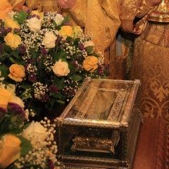 В Храме на Крови состоялась торжественная встреча мощей святителя Спиридона Тримифунтского