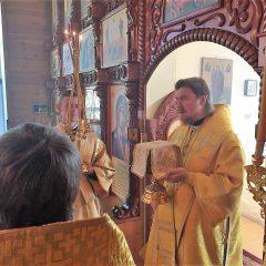 Преосвященный Алексий совершил Литургию в день памяти апостола Матфия