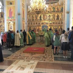 Преосвященный Алексий совершил Всенощное бдение в канун памяти преподобного Максима Исповедника