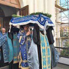 Преосвященный Алексий совершил Чин Погребения Плащаницы Пресвятой Богородицы