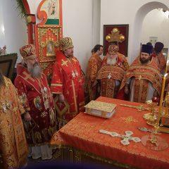 В Серове сонм архипастырей Екатеринбургской митрополии совершил Божественную литургию