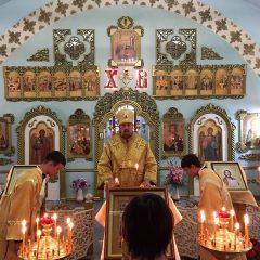 Преосвященный Алексий совершил Всенощное бдение в Карпинске