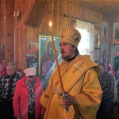 Преосвященный Алексий совершил Всенощное бдение в Сосьве