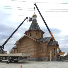 Архипастырь совершил освящение купола и креста в Воронцовке