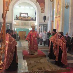 Владыка Алексий совершил Всенощное бдение в канун памяти святых мучениц Веры, Надежды, Любови и матери их Софии