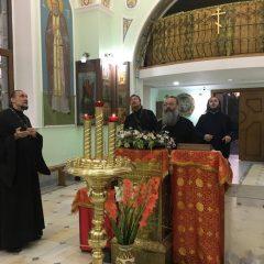 Митрополит Кирилл и епископ Алексий посетили Александро-Невский храм в Ташкенте