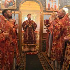 Епископ Алексий совершил Литургию в храме во имя священномученика Аркадия Екатеринбургского