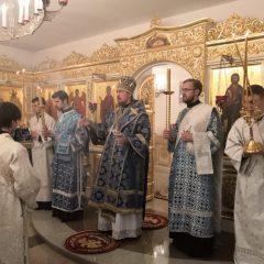 Преосвященный Алексий совершил Всенощное бдение в Свято-Пантелеимоновском женском монастыре
