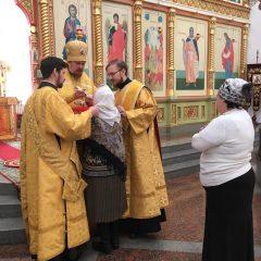 Преосвященный Алексий совершил литургию в день празднования Шуйской-Смоленской иконы Божией Матери
