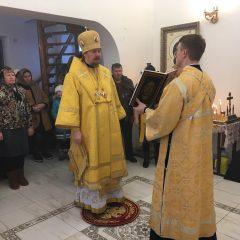 Преосвященный Алексий совершил Литургию в Маслово