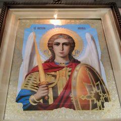 Преосвященный Алексий совершил Всенощное бдение в канун дня празднования собора Архистратига Михаила и прочих Небесных Сил бесплотных