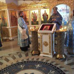 Преосвященный Алексий совершил Литургию в день празднования иконы Божией Матери, именуемой «Скоропослушница»