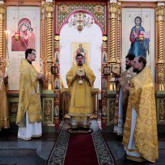 Преосвященный Алексий совершил Литургию в день памяти апостола и евангелиста Матфея
