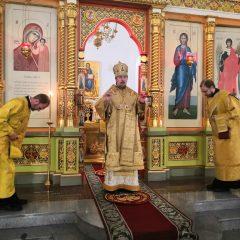 Преосвященный Алексий совершил Всенощное бдение в канун дня памяти свт. Филарета, митрополита Московского