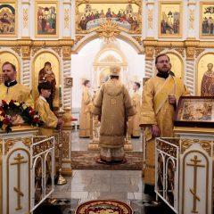 Преосвященный Алексий совершил Литургию в день памяти святителя Филарета Московского