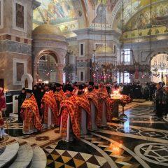 Преосвященный Алексий совершил Литургию в день памяти святого благоверного князя Александра Невского