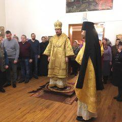 Преосвященный Алексий совершил Литургию в день памяти апостола Андрея Первозванного