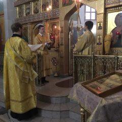 Преосвященный Алексий совершил Литургию в день памяти преподобного Нила Столобенского