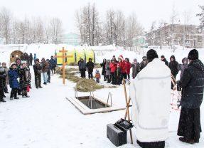 Освящение иордани в Краснотурьинске