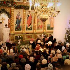 В Спасо-Преображенском кафедральном соборе встретили праздник Рождества Христова