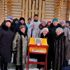 В Воронцовке совершили Рождественский молебен у строящегося храма