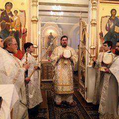 Преосвященный Алексий совершил Литургию в день отдания Рождества Христова
