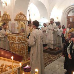 Епископ Алексий совершил Всенощное бдение в канун Крещения Господня