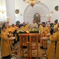Архиерейское богослужение состоялось в канун празднования иконы Божией Матери «Иверская»