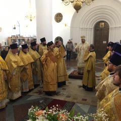 Епископ Алексий возглавил Литургию в день празднования Иверской иконы Божией Матери