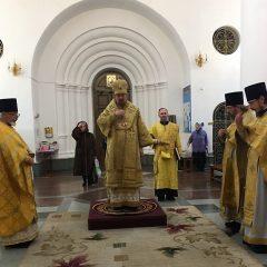 Преосвященный Алексий возглавил Литургию в день памяти равноапостольного Кирилла, учителя Словенского