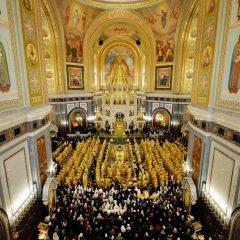 Преосвященный Алексий принял участие в Божественной литургии по случаю празднования 10-ой годовщины интронизации Святейшего Патриарха Кирилла