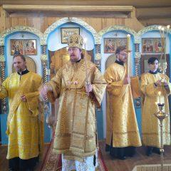 Епископ Алексий совершил всенощное бдение в храме в честь Благовещения Божией Матери