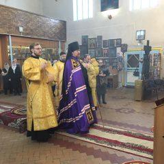 В Неделю о Страшном суде Преосвященный Алексий совершил литургию в храме пророка Илии