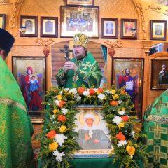 Епископ Алексий совершил Литургию в престольный праздник храма святой блаженной Матроны Московской