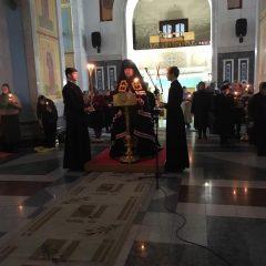 Епископ Алексий совершил Великое повечерие с каноном преподобного Андрея Критского