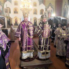 Епископ Евгений и епископ Алексий совершили Всенощное бдение в канун Недели Торжества Православия