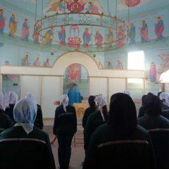 Божественная литургия в храме во имя святой равноапостольной великой княгини Ольги