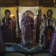 Епископ Алексий совершил Литургию в Свято-Косьминской пустыни