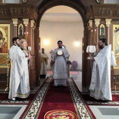 Епископ Алексий совершил Литургию в Лазареву Субботу