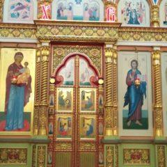 Продолжается реконструкция иконостаса центрального храма Серовской епархии