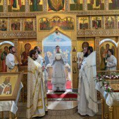 Епископ Алексий совершил Литургию в Соборе Максима Исповедника