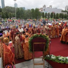 Десять архипастырей возглавили всенощное бдение в канун дня памяти Царственных страстотерпцев