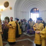 Епископ Алексий совершил всенощное бдение в Спасо-Преображенском соборе
